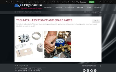 Screenshot of Support Page frigonautica.com - Refrigerating systems for yachts Frigonautica - Frigonautica - captured March 6, 2016