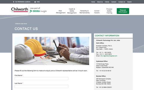 Screenshot of Contact Page chilworth.co.in - Chilworth India - Contact Us - captured July 29, 2017