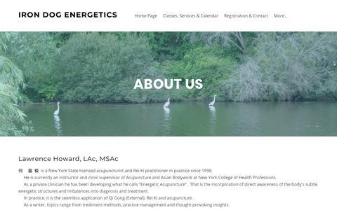 Screenshot of About Page irondogenergetics.com - About Us - Iron Dog Energetics - captured Sept. 20, 2018