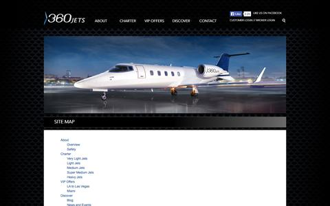 Screenshot of Site Map Page fly360jets.com - Fly 360 Jets | ABOUT - captured Oct. 27, 2014
