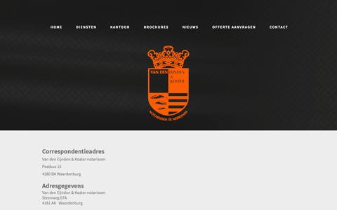 Screenshot of Contact Page ek-notarissen.nl - Contact - captured Oct. 27, 2014
