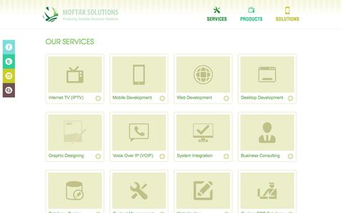 Screenshot of Services Page moftak.com - Services - captured Sept. 26, 2016
