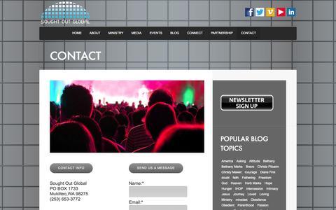 Screenshot of Contact Page soughtoutglobal.com - CONTACT | Sought Out Global - captured Oct. 1, 2014