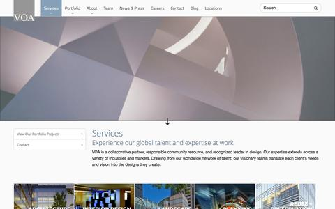 Screenshot of Services Page voa.com - Services | VOA Associates Incorporated - captured Sept. 24, 2014