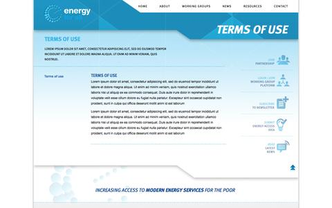 Screenshot of Terms Page energyforall.info - Energy for all | Terms of use - Energy for all - captured Oct. 2, 2014