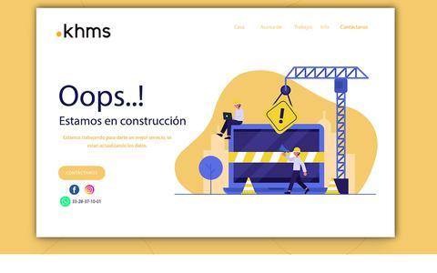 Screenshot of Home Page khms.com.mx - .: Know How :. - captured Aug. 2, 2019