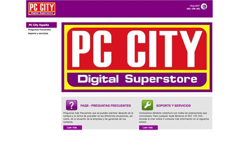 Screenshot of Home Page pccity.es - PC  City el mejor lugar para comprar Tecnologia | PC City - captured Oct. 2, 2014