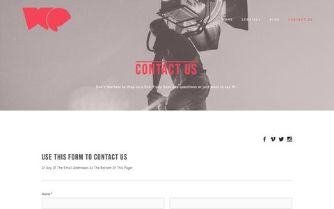 Screenshot of Contact Page wevisualstudio.com - CONTACT US — WE visual studio - captured Feb. 23, 2016
