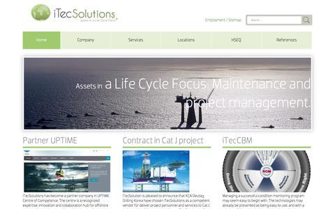 Screenshot of Home Page Menu Page itecsolutions.com - Home - iTec Solutions | iTec Solutions - captured Oct. 6, 2014