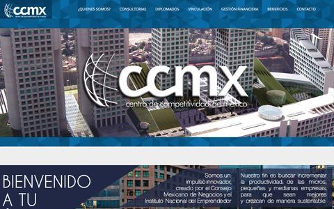 Screenshot of Home Page ccmx.org.mx - CCMX - captured April 23, 2016