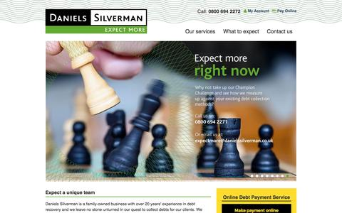 Screenshot of Home Page Services Page danielssilverman.co.uk - Debt Collection Agency » Debt Recovery Agency »  Daniels Silverman Limited - captured Nov. 23, 2016