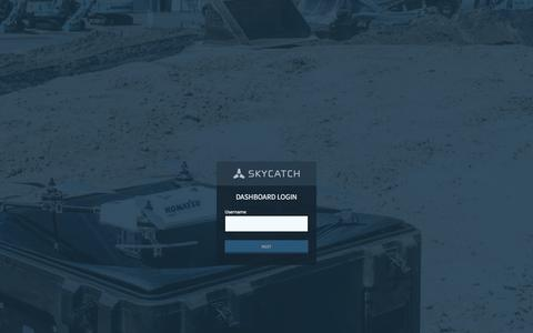 Screenshot of Login Page skycatch.com - Skycatch - captured Feb. 29, 2016