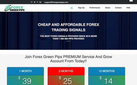 Screenshot of Signup Page forexgreenpips.com - Start making pips with our Forex Signals today - Forexgreenpips.com - captured Nov. 27, 2018