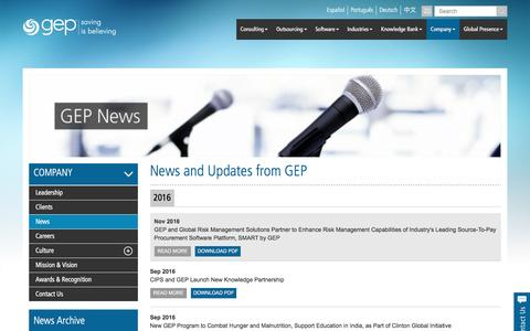 News and Updates | GEP