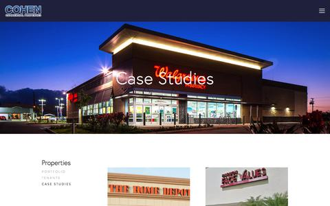 Screenshot of Case Studies Page cohen-commercial.com - Case Studies — Cohen Commercial Properties - captured Aug. 10, 2017