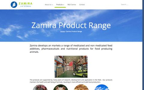 Screenshot of Products Page zamira.com.sg - Zamira Product Range | Zamira Life Sciences - captured Nov. 5, 2014