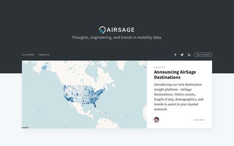 Screenshot of Blog airsage.com - AirSage Blog - captured June 12, 2019