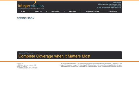 Screenshot of Site Map Page Login Page Terms Page integerwireless.com - Integer Wireless - captured Oct. 23, 2014