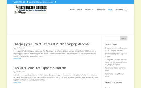 Screenshot of Press Page northharborsolutions.com - News | North Harbor Solutions, LLC - captured June 16, 2017