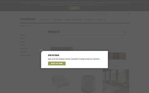 Screenshot of Products Page coalesse.com - Premium Office Furniture for the Modern Workspace | Coalesse - captured July 19, 2018