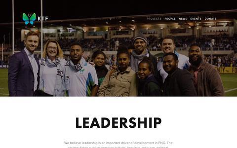 Screenshot of Team Page ktf.ngo - Leadership — KTF - captured Dec. 5, 2018