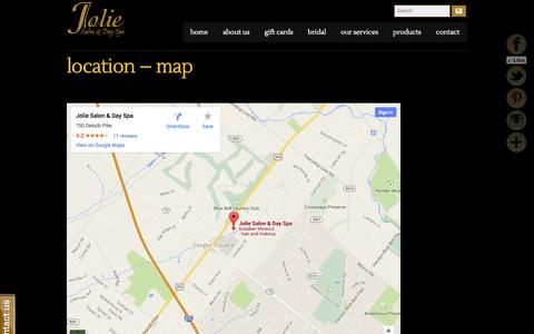 Screenshot of Maps & Directions Page joliespa.com - Location – Map     Jolie Spa - captured Oct. 27, 2014