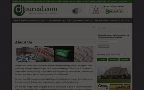 Screenshot of About Page djournal.com - About Us - Daily Journal - captured Jan. 30, 2016