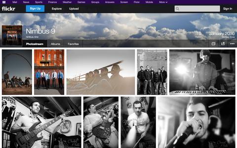 Screenshot of Flickr Page flickr.com - Flickr: nimbus.nine's Photostream - captured Oct. 26, 2014
