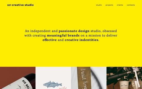 Screenshot of Home Page 327.pt - 327 Creative Studio - captured Oct. 18, 2018