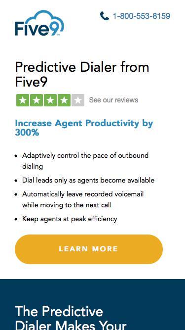 Predictive Dialer Contact Center Software | Five9