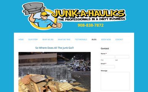 Screenshot of Blog junkahaulics.com - Blog   Junk-A-Haulics - captured Sept. 30, 2014