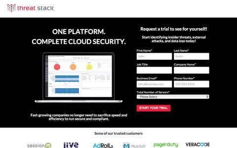 Screenshot of Trial Page threatstack.com - Threat Stack | Free Trial - captured Nov. 18, 2016