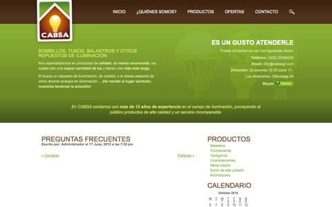 Screenshot of FAQ Page cabsagt.com - Preguntas Frecuentes | CABSA - captured Oct. 1, 2014