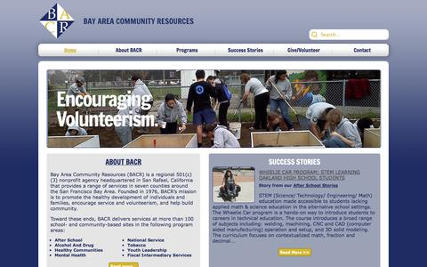 Screenshot of Home Page bacr.org - Home - captured Oct. 5, 2014