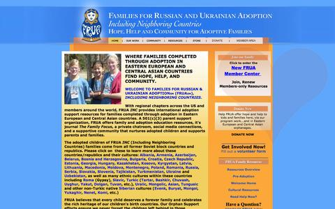 Screenshot of Home Page frua.org - FRUA Home Page - Eastern European Adoption - captured Jan. 28, 2015