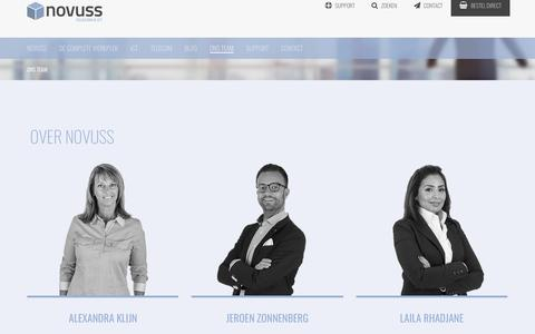 Screenshot of Team Page novuss.nl - Ons Team - Novuss - captured Oct. 18, 2018
