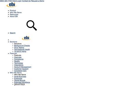 Screenshot of Blog ebiinc.com - EBI's Background Screening Blog - captured April 25, 2018