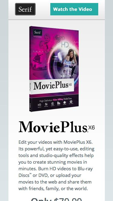 Serif MoviePlus X6 – HD Video Editing Software