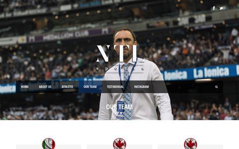 Screenshot of Team Page ntlsportsmanagement.com - NTL Sports Management   » Our team - captured Sept. 21, 2018
