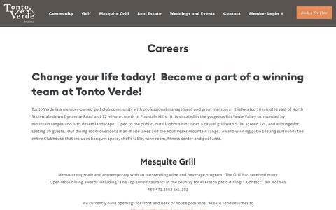 Screenshot of Jobs Page tontoverde.org - Careers | Tonto Verde - captured Nov. 16, 2018