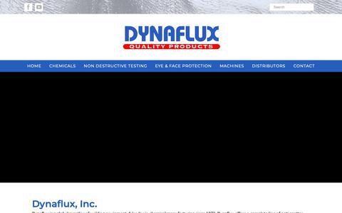 Screenshot of Home Page dynaflux.com - Dynaflux, Inc   Manufacturer of Welding Accessories - captured Oct. 9, 2018