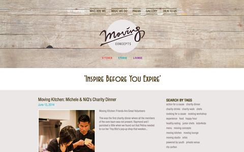 Screenshot of Menu Page moving-concepts.com - Moving Concepts: Inspire Before You Expire - captured Dec. 1, 2016