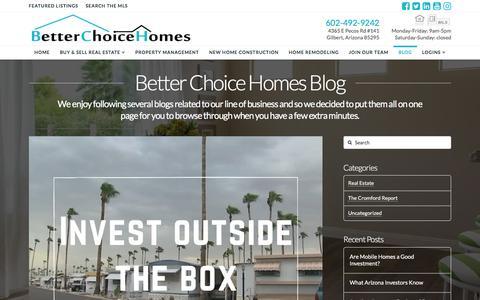 Screenshot of Blog betterchoicehomes.com - Blog - Better Choice Homes - captured Nov. 22, 2016