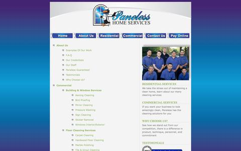 Screenshot of Site Map Page panelesswindowcleaning.net - Residential & Commercial Home Service & Window Cleaning in Dallas, TX   » Site Map - captured July 13, 2017