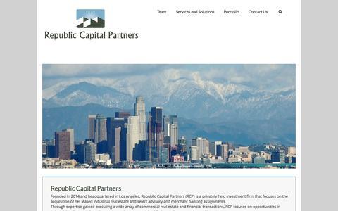 Screenshot of Home Page republiccap.com - Republic Capital Partners - captured Oct. 8, 2014