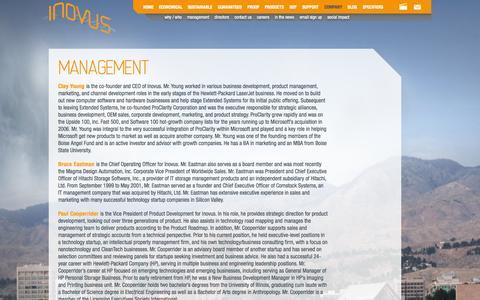 Screenshot of Team Page inovussolar.com - Solar Street Lighting and Inovus Management   Inovus - captured Sept. 16, 2014