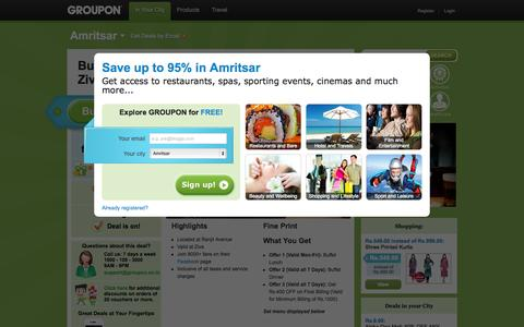 Screenshot of Home Page groupon.co.in - Up to 95% discount on gadgets, travel, restaurants, spas, wellness, fitness - groupon.co.in - captured Oct. 8, 2015