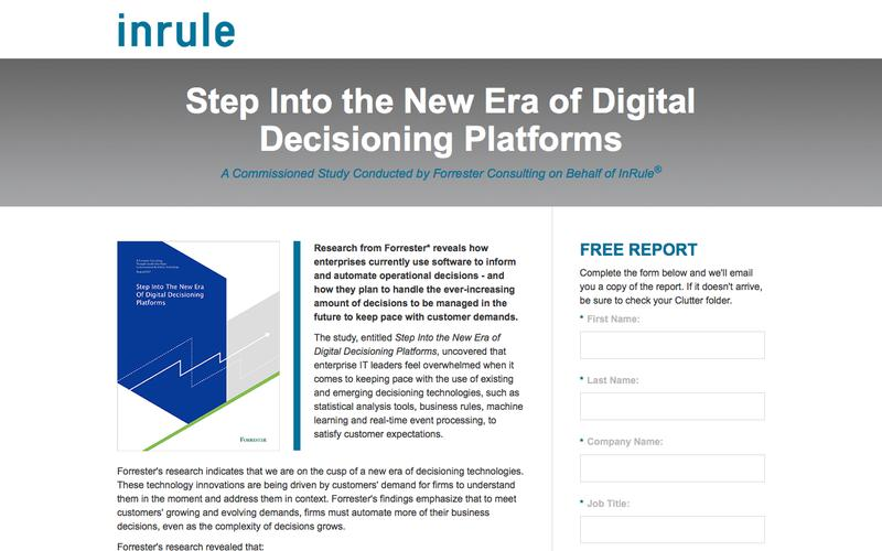 InRule Research |Step Into the New Era of Digital Decisioning Platforms