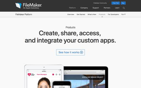 Products overview | FileMaker