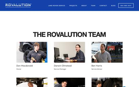 Screenshot of Team Page rovalution.ca - Team — Rovalution Automotive - captured Nov. 19, 2018